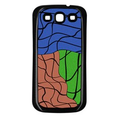Abstract Art Mixed Colors Samsung Galaxy S3 Back Case (Black)