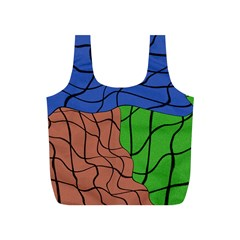 Abstract Art Mixed Colors Full Print Recycle Bags (s)