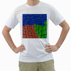 Abstract Art Mixed Colors Men s T-Shirt (White)