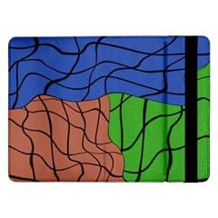 Abstract Art Mixed Colors Samsung Galaxy Tab Pro 12 2  Flip Case