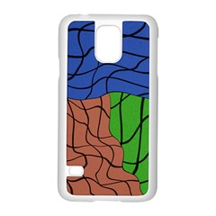 Abstract Art Mixed Colors Samsung Galaxy S5 Case (White)