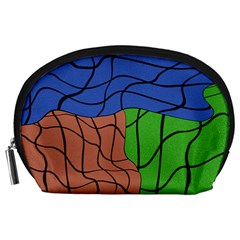 Abstract Art Mixed Colors Accessory Pouches (Large)