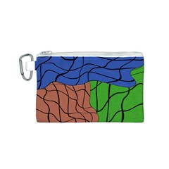 Abstract Art Mixed Colors Canvas Cosmetic Bag (s)