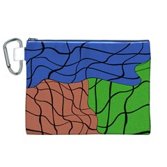 Abstract Art Mixed Colors Canvas Cosmetic Bag (xl)