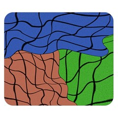 Abstract Art Mixed Colors Double Sided Flano Blanket (Small)