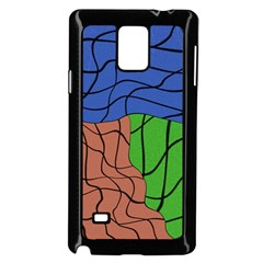 Abstract Art Mixed Colors Samsung Galaxy Note 4 Case (black)