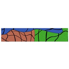Abstract Art Mixed Colors Flano Scarf (Small)