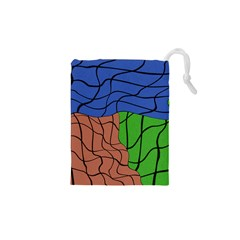 Abstract Art Mixed Colors Drawstring Pouches (xs)