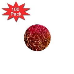 Background Water Abstract Red Wallpaper 1  Mini Magnets (100 Pack)