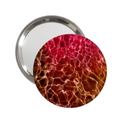 Background Water Abstract Red Wallpaper 2.25  Handbag Mirrors