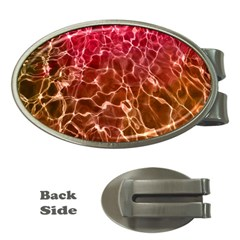 Background Water Abstract Red Wallpaper Money Clips (oval)