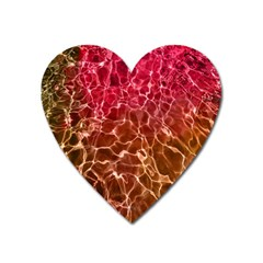 Background Water Abstract Red Wallpaper Heart Magnet
