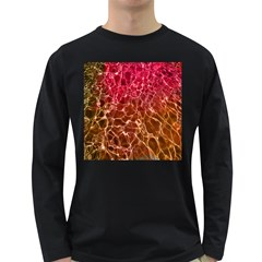 Background Water Abstract Red Wallpaper Long Sleeve Dark T Shirts