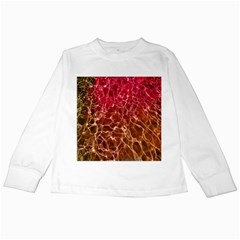 Background Water Abstract Red Wallpaper Kids Long Sleeve T-Shirts