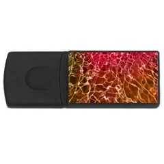 Background Water Abstract Red Wallpaper Usb Flash Drive Rectangular (4 Gb)