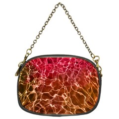 Background Water Abstract Red Wallpaper Chain Purses (two Sides)