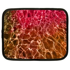 Background Water Abstract Red Wallpaper Netbook Case (xxl)