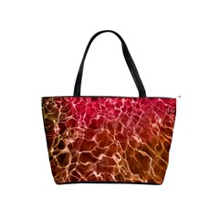 Background Water Abstract Red Wallpaper Shoulder Handbags