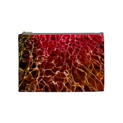 Background Water Abstract Red Wallpaper Cosmetic Bag (Medium)