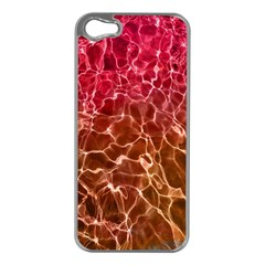 Background Water Abstract Red Wallpaper Apple Iphone 5 Case (silver)