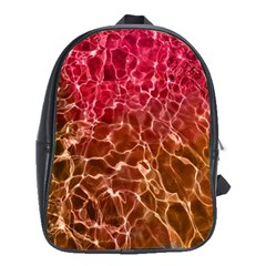 Background Water Abstract Red Wallpaper School Bags (XL)