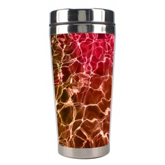 Background Water Abstract Red Wallpaper Stainless Steel Travel Tumblers