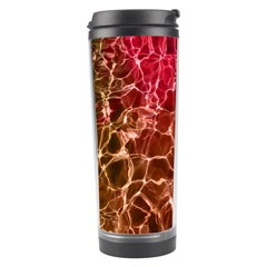 Background Water Abstract Red Wallpaper Travel Tumbler