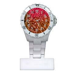 Background Water Abstract Red Wallpaper Plastic Nurses Watch