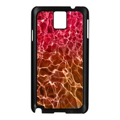 Background Water Abstract Red Wallpaper Samsung Galaxy Note 3 N9005 Case (Black)