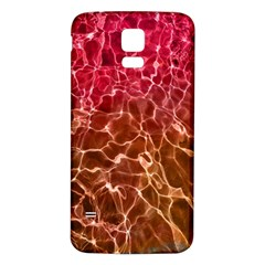 Background Water Abstract Red Wallpaper Samsung Galaxy S5 Back Case (White)