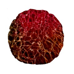 Background Water Abstract Red Wallpaper Standard 15  Premium Flano Round Cushions