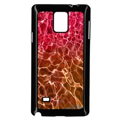 Background Water Abstract Red Wallpaper Samsung Galaxy Note 4 Case (black)