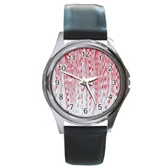 Abstract Swirling Pattern Background Wallpaper Pattern Round Metal Watch