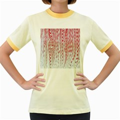 Abstract Swirling Pattern Background Wallpaper Pattern Women s Fitted Ringer T-Shirts
