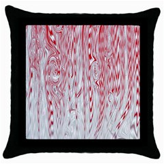 Abstract Swirling Pattern Background Wallpaper Pattern Throw Pillow Case (Black)