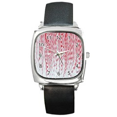 Abstract Swirling Pattern Background Wallpaper Pattern Square Metal Watch