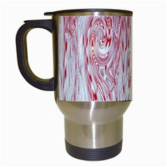Abstract Swirling Pattern Background Wallpaper Pattern Travel Mugs (white)