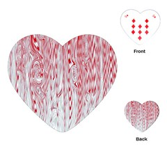 Abstract Swirling Pattern Background Wallpaper Pattern Playing Cards (heart)