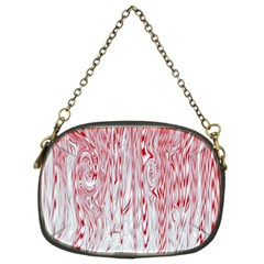 Abstract Swirling Pattern Background Wallpaper Pattern Chain Purses (two Sides)