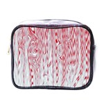 Abstract Swirling Pattern Background Wallpaper Pattern Mini Toiletries Bags Front