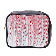 Abstract Swirling Pattern Background Wallpaper Pattern Mini Toiletries Bag 2 Side