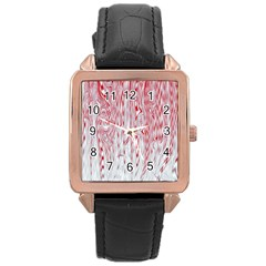 Abstract Swirling Pattern Background Wallpaper Pattern Rose Gold Leather Watch