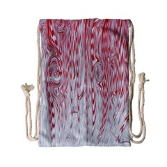 Abstract Swirling Pattern Background Wallpaper Pattern Drawstring Bag (small)