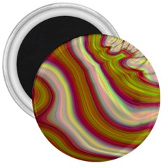 Artificial Colorful Lava Background 3  Magnets