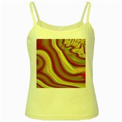 Artificial Colorful Lava Background Yellow Spaghetti Tank
