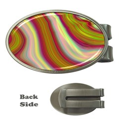 Artificial Colorful Lava Background Money Clips (Oval)
