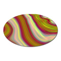 Artificial Colorful Lava Background Oval Magnet
