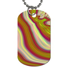 Artificial Colorful Lava Background Dog Tag (One Side)