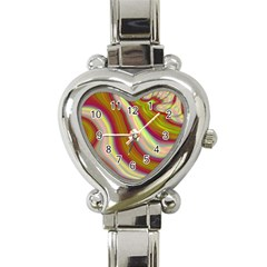 Artificial Colorful Lava Background Heart Italian Charm Watch