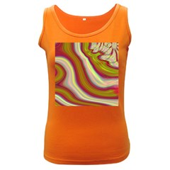 Artificial Colorful Lava Background Women s Dark Tank Top